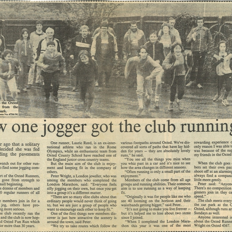 How one jogger got the club running